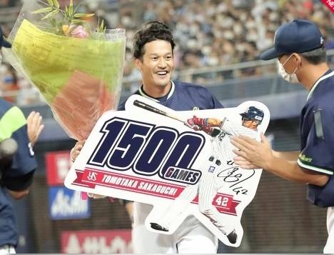 坂口1500試合出場