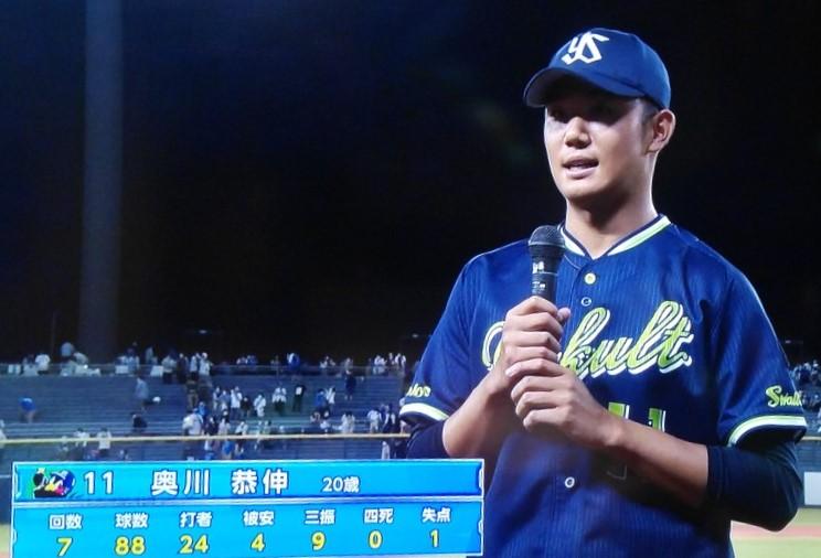 奥川ヒーローインタビュー