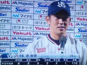 原樹理投手ヒーローインタビュー
